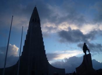 Hallgrímskirkja en Leif Erikson